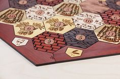 Settlers of Catan Board Exotic Hardwood Edition Custom
