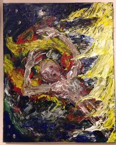 """Icarus""  original art on canvas abstract impasto  16"" x 20""     jack larson   #Abstract"