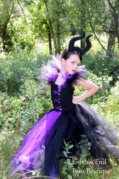 Maleficent Tutu Dress Gothic tutu Dress size por RainbowsEndTutus