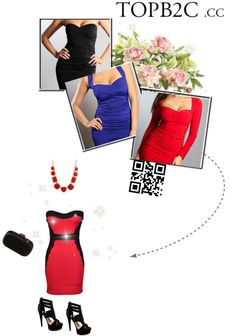 """""""The Strapless Night Dress"""" by mskulamshy on Polyvore"""