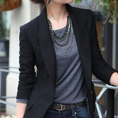 $12.98 AUD - Women's One Button Slim Business Blazer Suit Jacket Coat Outwear Eager #ebay #Fashion