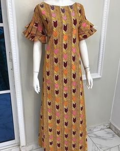 Image may contain: people standing African Lace Styles, African Dresses For Kids, African Maxi Dresses, African Fashion Ankara, Latest African Fashion Dresses, African Print Fashion, Africa Fashion, African Attire, African Wear