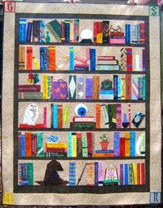 Harry Potter bookcase quilt
