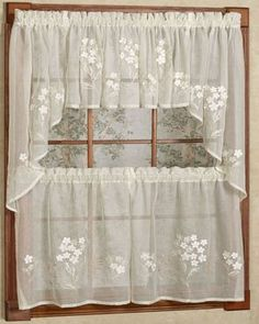 hydrangea semi sheer faux linen tiervalance and swag tier curtains