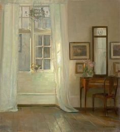 Carl Holsøe (Danish, 1863-1935), Interior. Oil on canvas VISION