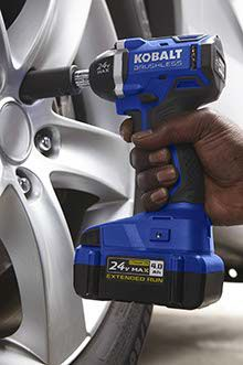 Secure your spot as dad's favorite by gifting new Kobalt 24V Max Brushless cordless power tools. The state-of-the-art brushless motors are highly efficient and long-lasting.