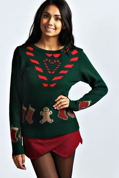 Carrie Candy Cane Christmas Jumper
