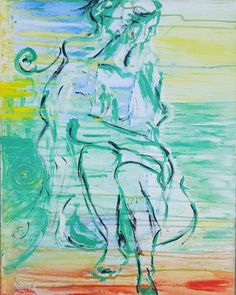 "Painted in Mallorca Ramune Art 💛💚❤🌼👑🎨🎵🐞🌾🇪🇸 ""Me""💖nude, naked  #follow #portrait #interior #artist  #painting #webnartclub  #artgalleri #online #evolitra  #contemporaryart #interiør  #interiordesign #interiors  #homedeco #figurativeart #colors #colorfullife #ramune_art #mirthiferous  #alexanderschwarzart  #ichliebees #instaartist  #kunstliebe #fff  #instafollow #l4l  #tagforlikes #followback  #abstract #instadecor"