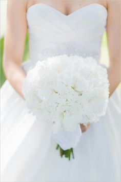 Beautiful White Fluffy Round Bridal Bouquet Of Peonies>>>>