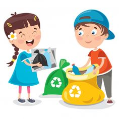 Little children cleaning and recycling garbage Cartoon Posters, Retro Cartoons, Cartoon Icons, Cartoon Kids, Cleaning Cartoon, Daisy Wallpaper, Artsy Background, Little Children, Preschool Learning Activities