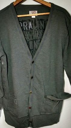 Kirra industry revolution button-front blazer Kirra SZ. L 100% cotton dusty gray industry revolution button-front blazer with two front pockets excellent condition Kirra Sweaters Cardigans