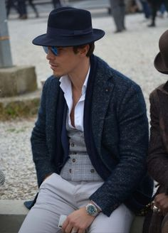 Well-dressed scenes from outside Pitti Uomo in Milan, the epicenter of men's fashion.