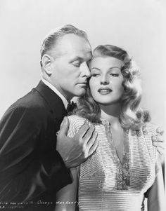"George Macready with  Rita Hayworth for ""Gilda"" (1946)"