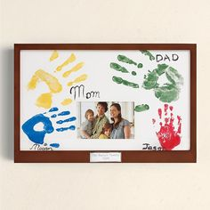 family handprints picture frame - can make!