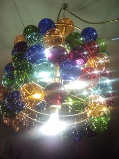 Lamp in Zurich: colours, beauty, Christmas balls... Beautiful!!