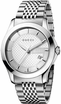 0c46f1c180f Gucci G-Timeless Silver Dial Stainless Steel Bracelet Watch For Men. Gucci  Watches For