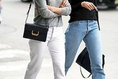 Street Style: Elin Kling And A Friend Go Casual Chic In Denim...