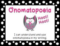 Onomatopoeia Lesson & Activity {Freebie}