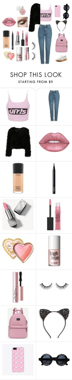 """Personality crisis 🎀☠"" by princesshemmo96 ❤ liked on Polyvore featuring Alexander Wang, Topshop, MAC Cosmetics, NARS Cosmetics, Burberry, Maybelline, Too Faced Cosmetics, Benefit, Cara and Chanel"
