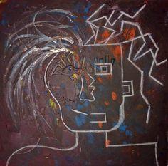 live two lifes / acrylic / 80x80