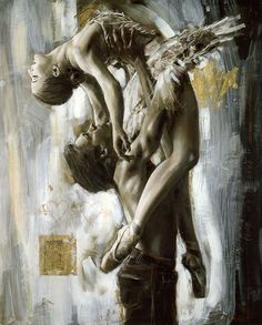 dancers painting by rob hefferan