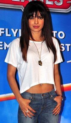 Indian Bollywood actress Priyanka Chopra during the premiere of Disney's 'Planes' in Mumbai.