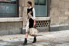 On the street at LFW.