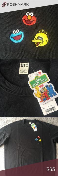 f0bb5d7da482c KAWS x Sesame Street Sweater KAWS collaboration with Sesame Street rare  sweater Uniqlo Shirts Sweatshirts