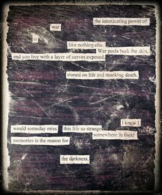 Stoned on Life - Blackout Poem by Kevin Harrell    www.blackoutpoetry.net