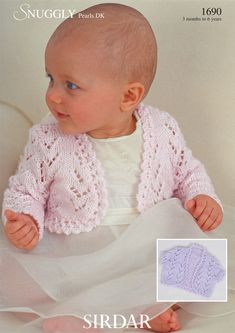 Free Crochet Pattern For Baby Bolero : Sirdar Snuggly Pearls DK Bolero Knitting Pattern 1690 Sirdar Knitting Patterns, Crochet Bolero, Baby Cardigan Knitting Pattern Free, Free Knitting, Free Crochet, Crochet Patterns, Kids Knitting, Crochet Cardigan, Vintage Knitting