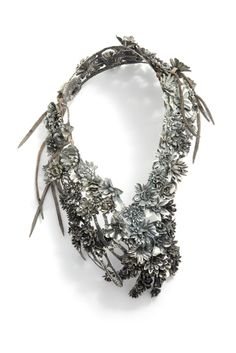 Talk about steel magnolias! Wow Hanna Hedman necklace #natural meets #industrial spa style!