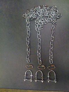 "Swingset tire swing chains,playset tire swivel kit,playground, U bolts,zp 66"",3p"