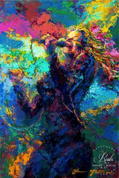 "Janis Joplin ""A Flower in the Sun"" (by Jace McTier) - Limited Edition, Fine Art Print"