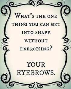 Preach! Get those brows in shape at Salon in the Tower with an eyebrow wax for only $15! #brows #shapeup #beauty #buffalosalon