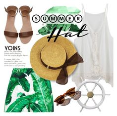 """""""Summer sail"""" by purpleagony ❤ liked on Polyvore featuring Dolce&Gabbana, Garance Doré, tropical, summerhat, yoins, yoinscollection and loveyoins"""