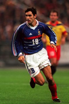 Robert Pirès, France (1996–2004, 79 caps, 14 goals), October 1998 : match for EURO 2000 qualifier against Andorra, just months after winning the 1998 FIFA World Cup. And of course, before France would go on to win the UEFA EURO 2000.