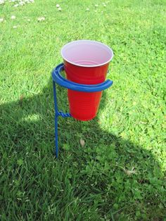 Red Solo Cup Holder Outdoors With Horseshoe by L3IronWood on Etsy, $19.00 - there are no words for how you this is. lol