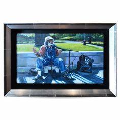 """"""" Grandpa Elliot"""" Oil on Board by Marilyn King"""