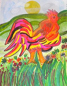 Colorful Rooster.