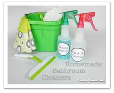 Homemade Bathroom Cleaners