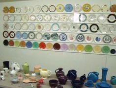 Display of Homer Laughlin China Company's popular items