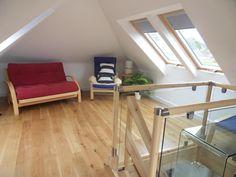 Open plan room, glass gallery