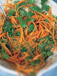 Carrot & Coriander Salad | Vegetables Recipes | Jamie Oliver Recipes