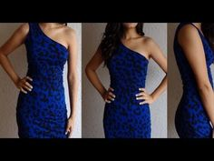 Fashion DIY How to make One Shoulder Dress Party Cocktail Dress New Years Eve Clubbing - YouTube
