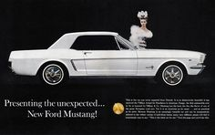 Ford Mustang Lady 1964 - Mad Men Art: The 1891-1970 Vintage Advertisement Art Collection