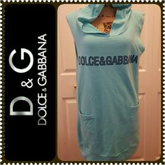 Dolce and Gabbana Hoodie Top D&G Signature Sleeveless Hoodie Top, Made in Italy in Size 50 (Medium),  Mint Condition Dolce & Gabbana Tops