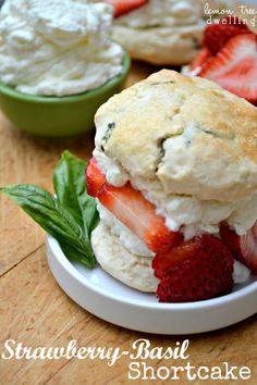 Strawberry Basil Shortcake
