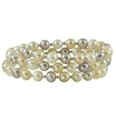@Overstock - Pearls For You Sterling Silver Freshwater Pastel Pearl Coiled Bangle (6-7 mm) - This fun, fashionable coiled bangle features lustrous white, pink and lavender freshwater pearls accented with sterling silver beads. With a total of 22 inches of pearls, this bangle bracelet will add beauty and sophistication to any wardrobe. http://www.overstock.com/Jewelry-Watches/Pearls-For-You-Sterling-Silver-Freshwater-Pastel-Pearl-Coiled-Bangle-6-7-mm/5950033/product.html?CID=214117 $31.49
