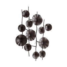 Cyan Design 05633 Poppy Wall Decor Graphite Home Decor Wall Decor ($123) ❤ liked on Polyvore featuring home, home decor, wall art, graphite, wall decor, iron home decor, rustic home decor and cyan design