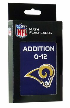 NFL St. Louis Rams Addition Flash Cards by KE Specialties. $10.76. Includes One Box of Addition Flash Cards. A Great Way to Interest Your Child in Math and Make Learning Fun. Large, 3 1/2 x 5 1/2 Cards Makes it Easy for Kids to Handle and Read.. Goes Anywhere and Can be Used Alone or With Others. A Proven Learning Tool That Helps Reinforce and Build Math Skills. Looking for an exciting way to help your child improve their addition facts? These large, easy to handle fl... Learning Tools, Fun Learning, Addition Flashcards, Multiplication Problems, Build Math, Addition Facts, Math Facts, Math Skills, St Louis